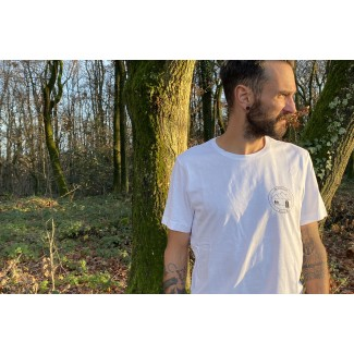 Town to trail tee basic coton bio blanc