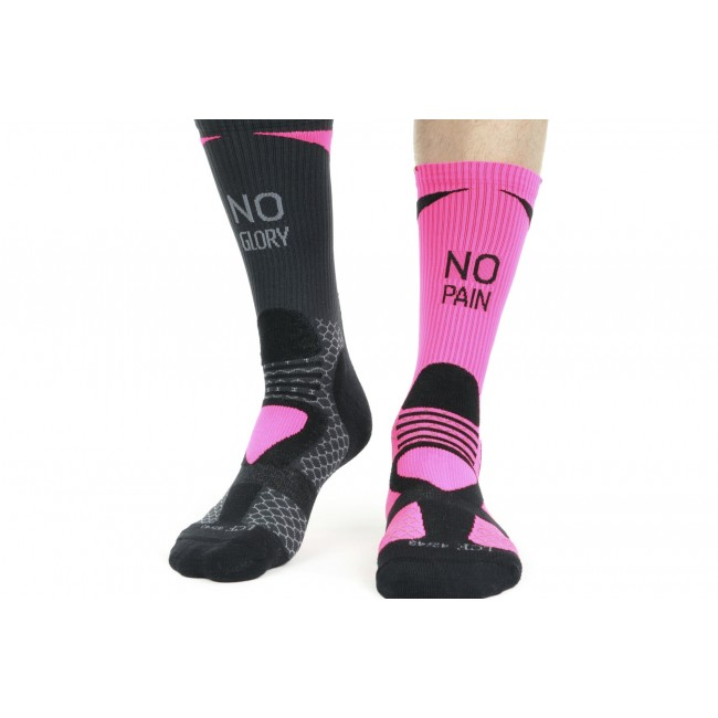 NPNG chaussettes techniques Made in France rose/noir