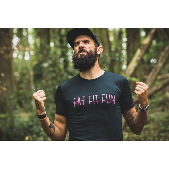 FAT FIT FUN tee-shirt technique