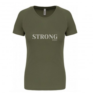 Tee shirt technique strong woman