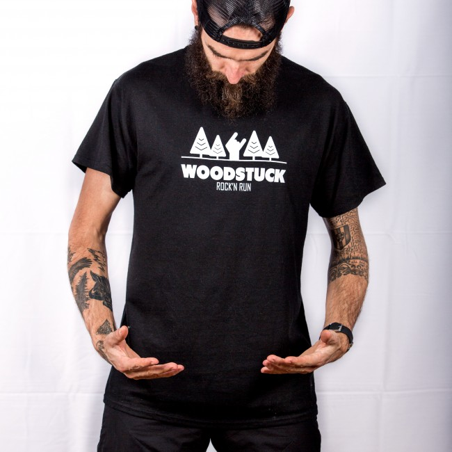 Woodstuck tee black